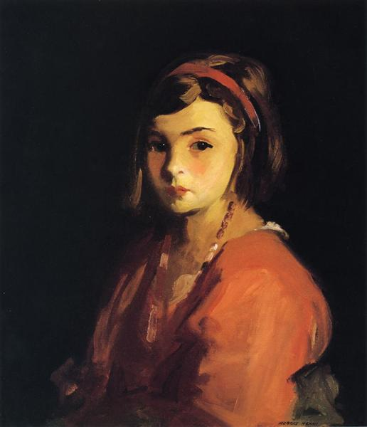 Agnes in Red (Agnes Schleicher), 1921 - Роберт Генрі