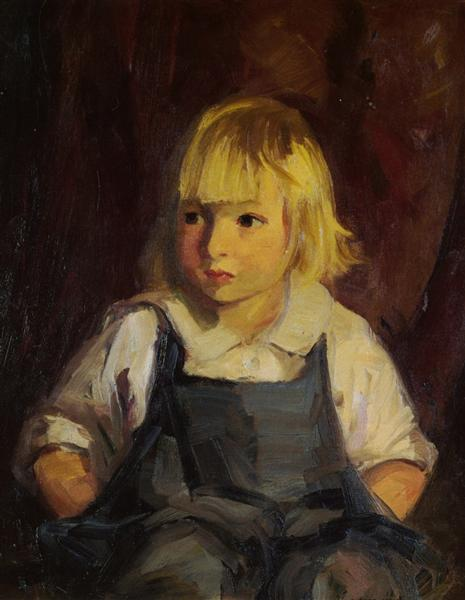 Boy in Blue Overalls, 1921 - Robert Henri