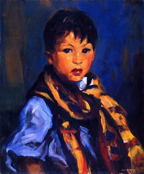 Boy with Plaid Scarf, 1916 - Robert Henri