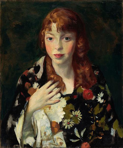 Edna Smith in a Japanese Wrap, 1915 - Роберт Генри