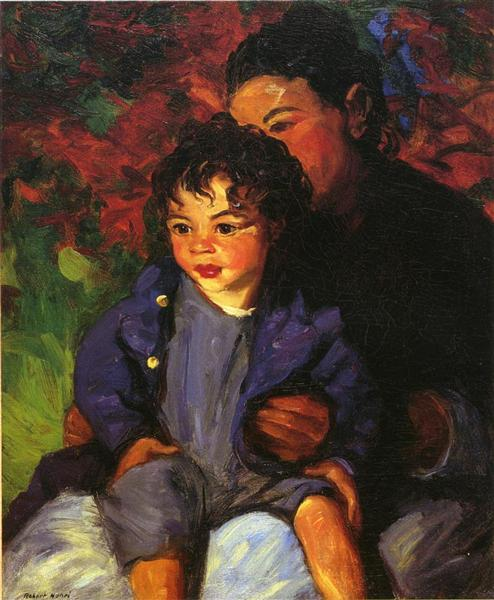 Sammy and His Mother, 1915 - Robert Henri