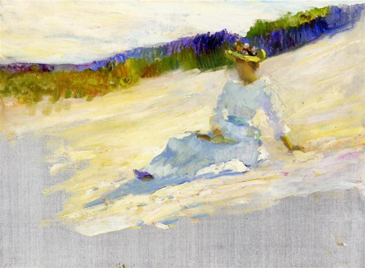 Sunlight, Girl on Beach, Avalon, 1893 - Robert Henri