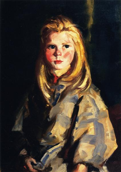 Young Blond Girl, Corrymore Lass (Bridget Lavelle), 1928 - Robert Henri