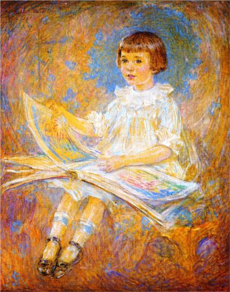 Portrait of a Young Girl, 1919 - Robert Lewis Reid