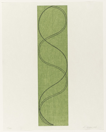 Green Column/Figure - Robert Mangold