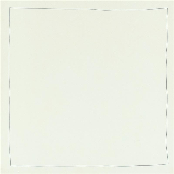 Bent Line Drawing - Robert Ryman