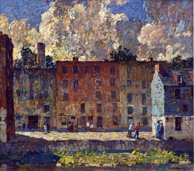 A Row of Tenements, 1915 - Robert Spencer