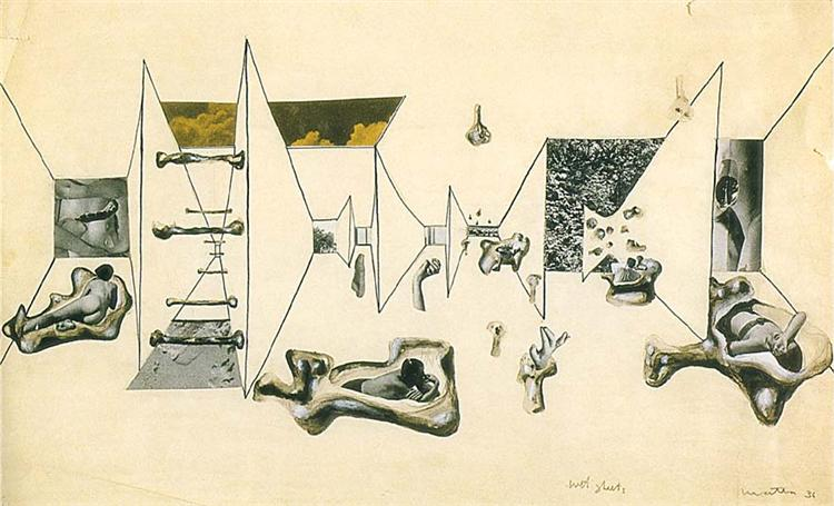 Wet Sheets, 1936 - Roberto Matta