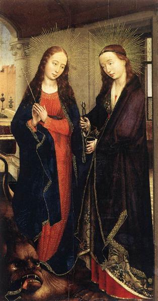 Saints Margaret and Apollonia, 1445 - 1450 - Rogier van der Weyden