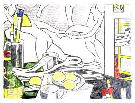 Artist's studio - The dance (sketch), 1974 - Roy Lichtenstein