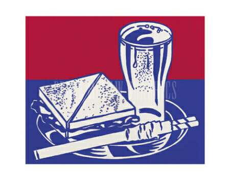 Sandwich and soda, 1964 - Roy Lichtenstein