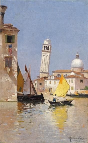 View of San Pietro di Castello, Venice - Rubens Santoro