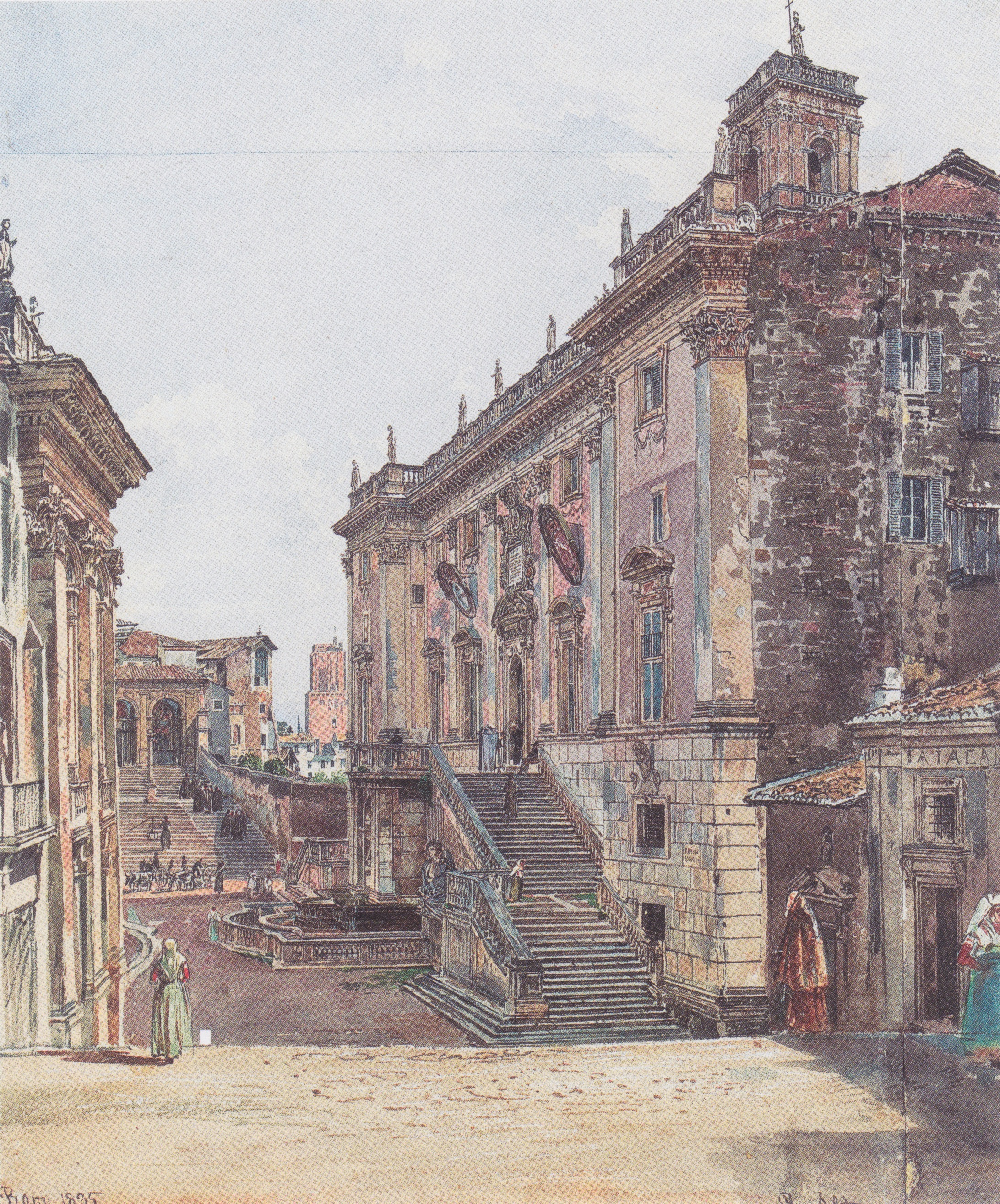 The Capitol in Rome, 1835