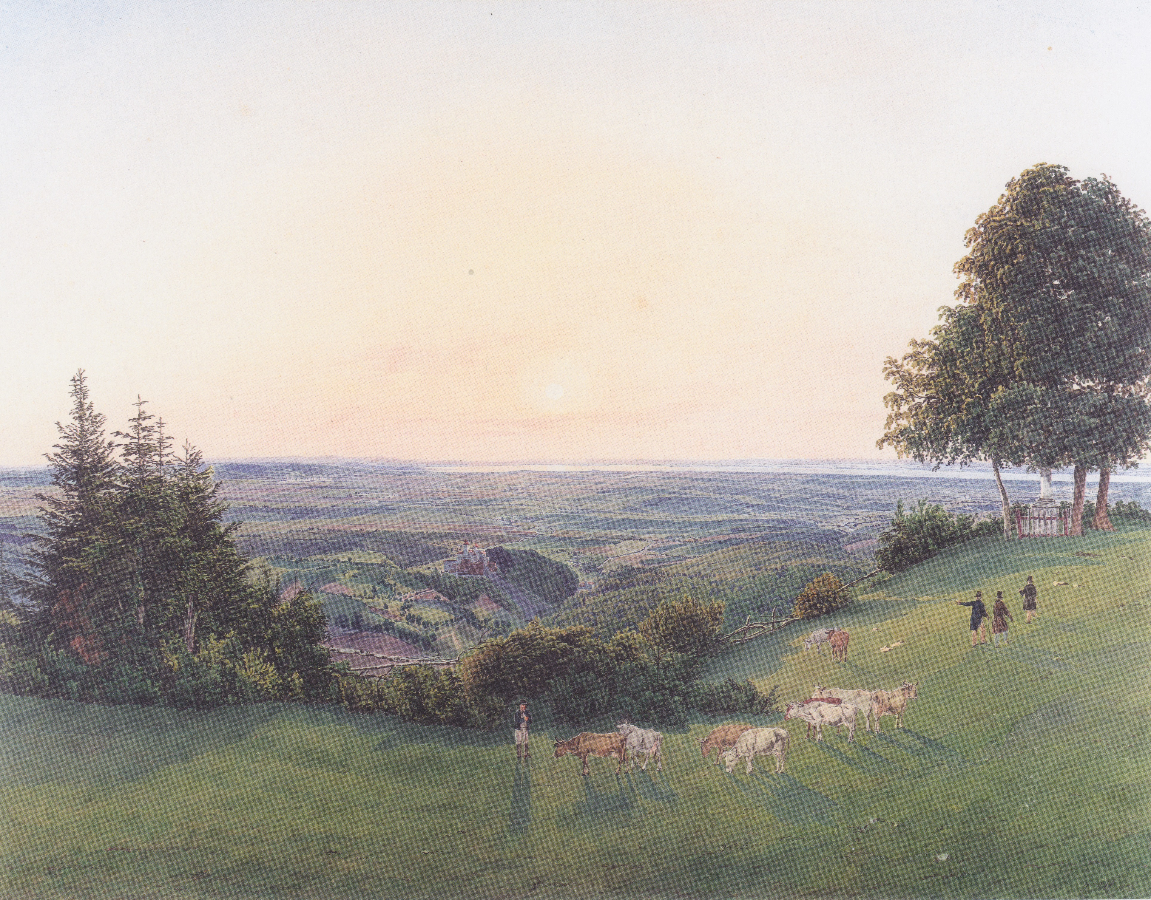 View from the chapel Rosalie, 1837