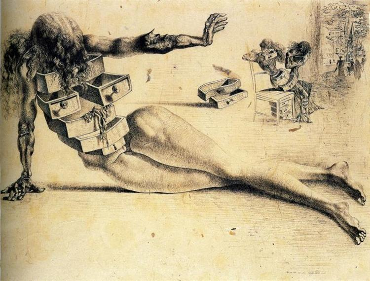 City of drawers, 1936 - Salvador Dali