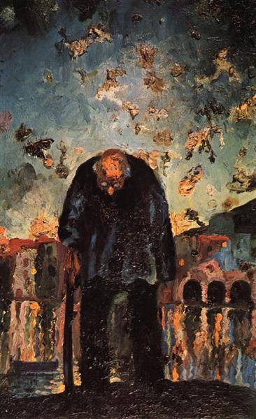 Crepuscular Old Man, 1917 - 1918 - Salvador Dali
