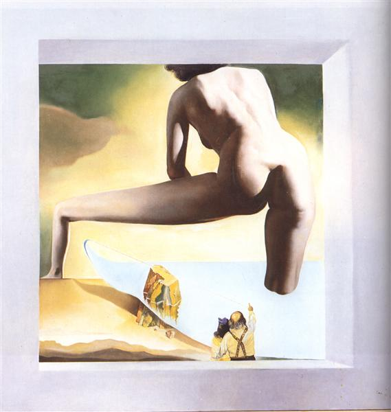 Dali Lifting the Skin of the Mediterranean Sea to Show Gala the Birth of Venus, 1977 - Salvador Dali