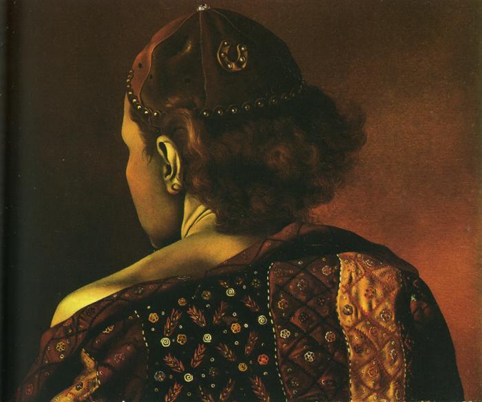 """Geodesic"" Portrait of Gala, 1936"