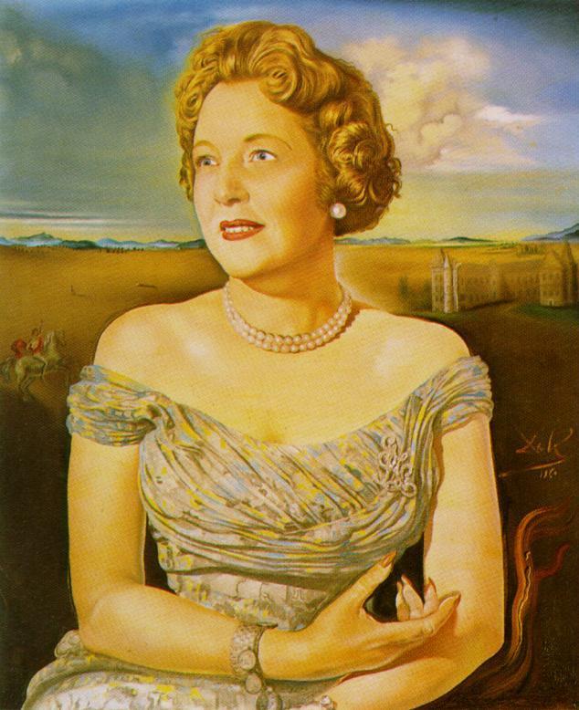 Portrait of Countess Ghislaine d'Oultremont, 1960 - Salvador Dali ...
