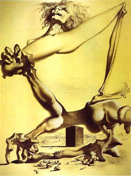 FREE P/&P FINE CANVAS SALVADOR DALI Premonition of Civil War , 52x50cm 1936