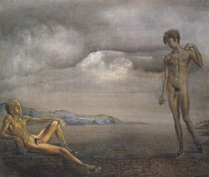Two Adolescents, 1954 - Salvador Dalí