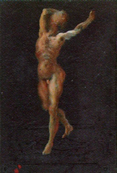 Untitled (Male Nude in a Landscape), 1948 - Salvador Dali