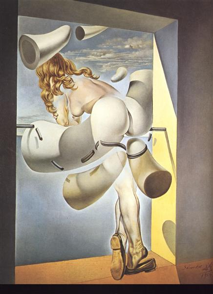 Young Virgin Auto-Sodomized by the Horns of Her Own Chastity, 1954 - Salvador Dali