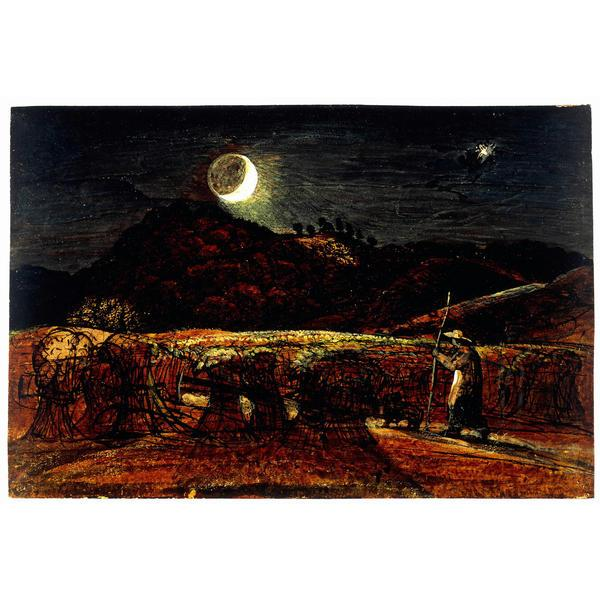 A Cornfield by Moonlight with the Evening Star - Samuel Palmer