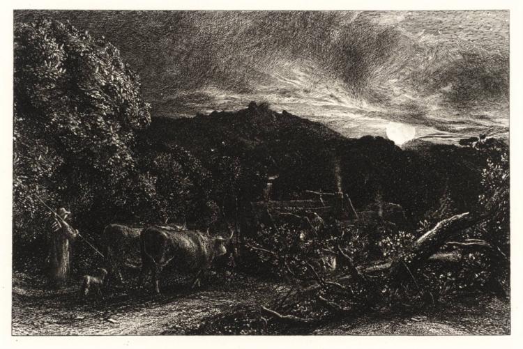 The Weary Ploughman 1858 - Сэмюэл Палмер