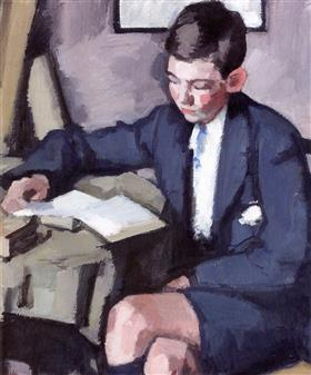 Boy Reading - Samuel Peploe