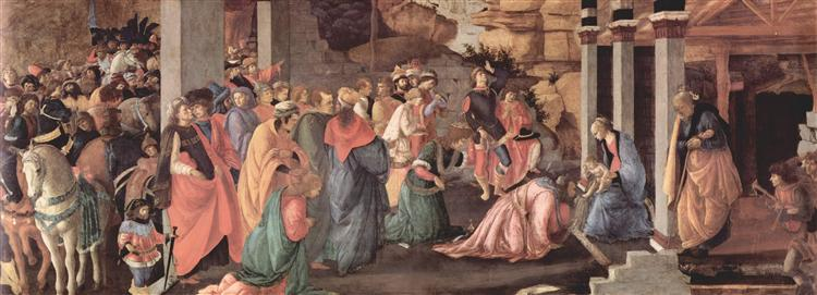 Adoration of the Magi, 1465 - 1467 - Sandro Botticelli