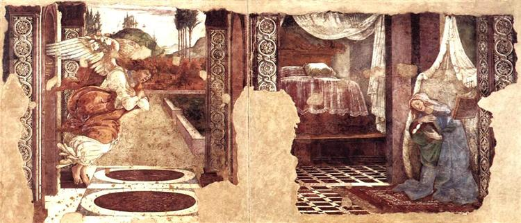 Annunciation, 1481 - Sandro Botticelli