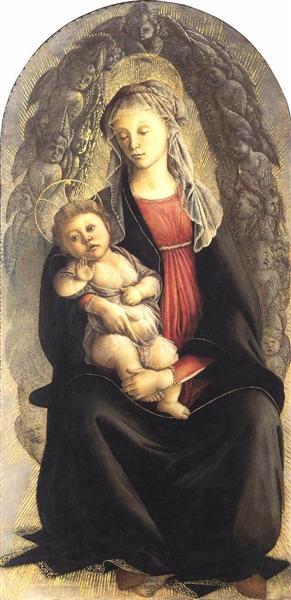 Madonna in Glory with Seraphim - Botticelli Sandro