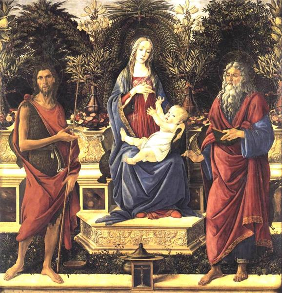 The Virgin and Child Enthroned, 1484 - Sandro Botticelli