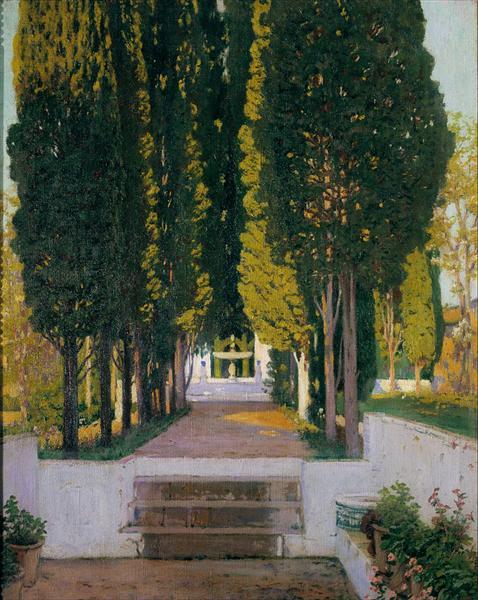 Gardens of the Generalife, 1895 - Santiago Rusinol