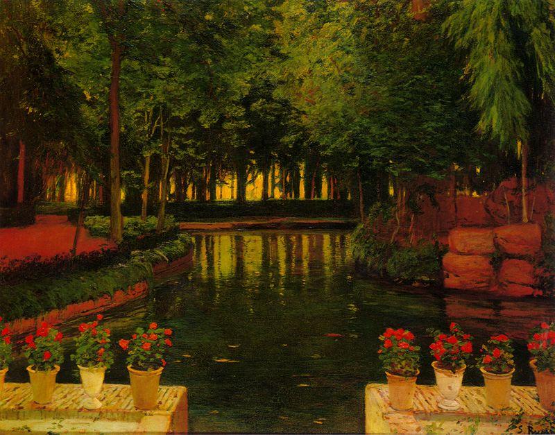 Jardines de aranjuez 2 santiago rusinol for Jardines de aranjuez horario