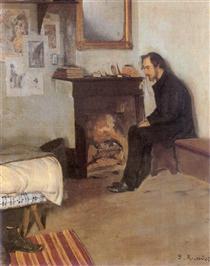 Portrait of Eric Satie - Santiago Rusiñol