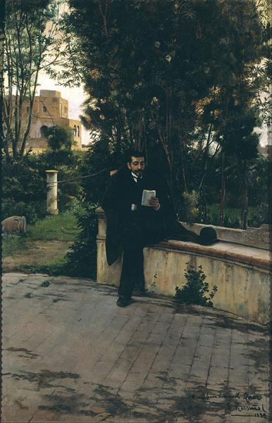 Senyor Quer in the Garden, 1889 - Santiago Rusinol