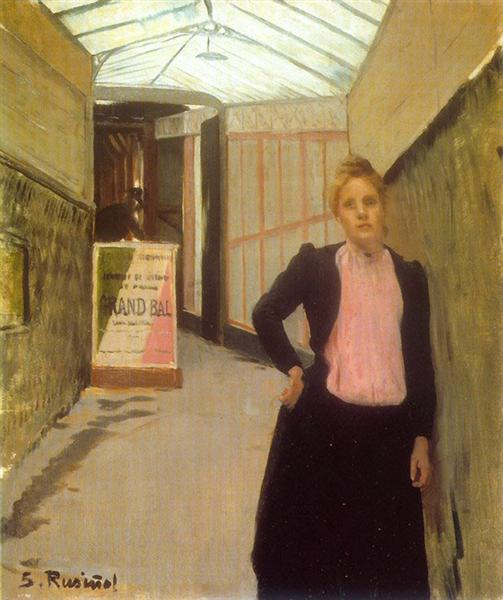 Ticket seller at the Moulin de la Galette dance hall, 1890 - Santiago Rusinol