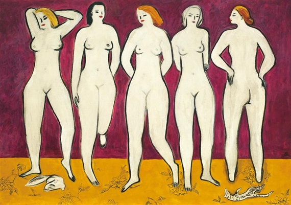 Five Nudes, 1950 - Sanyu