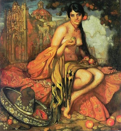 The Criolla with Shawl, 1916 - Saturnino Herran