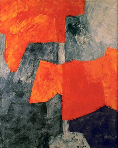 Composition grise et rouge, 1964 - Серж Поляков