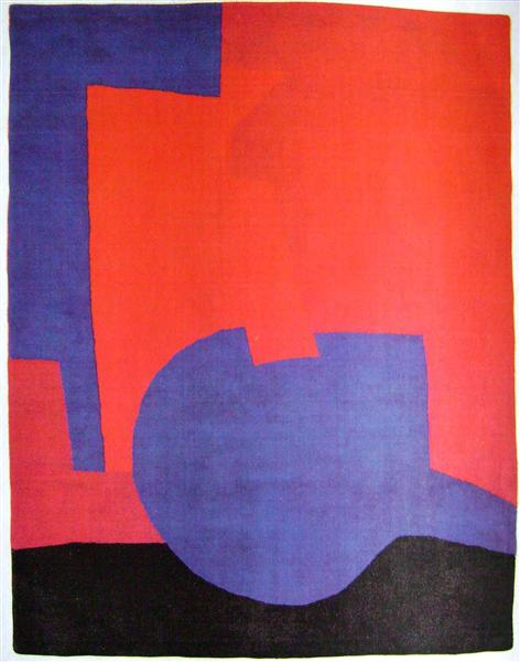 Composition rouge, 1968 - Serge Poliakoff