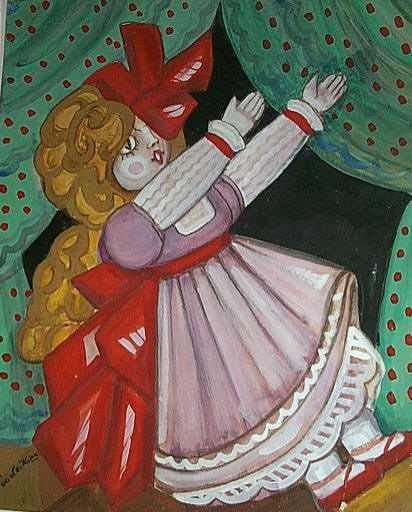 Curtain design with Doll, c.1924 - Сергей Судейкин