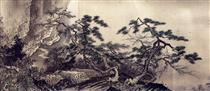 Sansui chokan, detail - Sesshu Toyo
