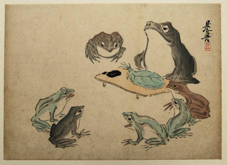 Frogs - Shibata Zeshin