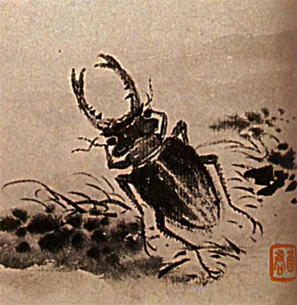 Studies of insects, beetles, 1656 - 1707 - Shi Tao