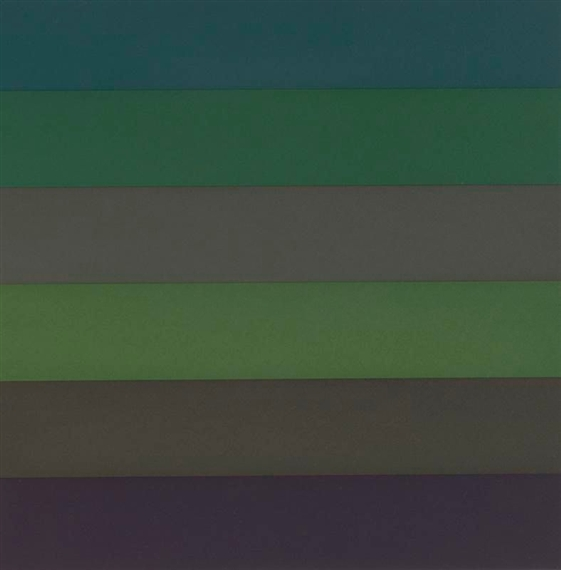 Horizontal Bands with Colors Superimposed, 1988 - Sol LeWitt