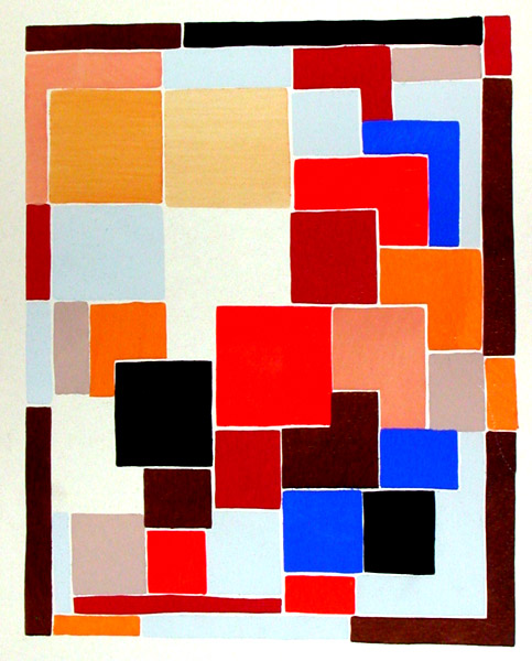 Design In The Style Of Mondrian Possibly For A Rug From