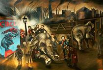Blind children feel an elephant - Sue Coe